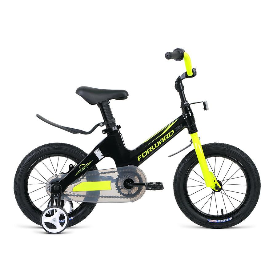Купить Велосипед детский 18 Forward Cosmo MG 2020-2021 год Черный/Зеленый/1BKW1K7D1005,
