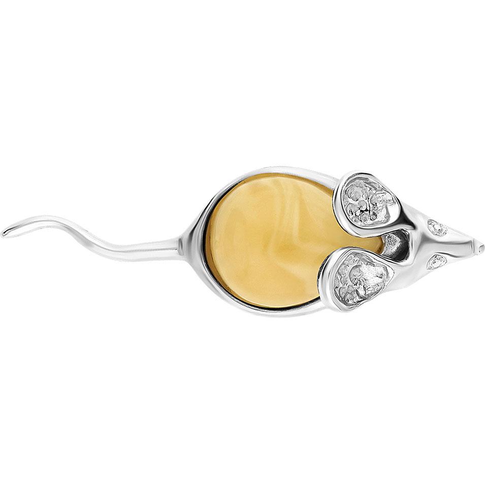 Брошь из серебра с янтарем Darvin 927031202AB