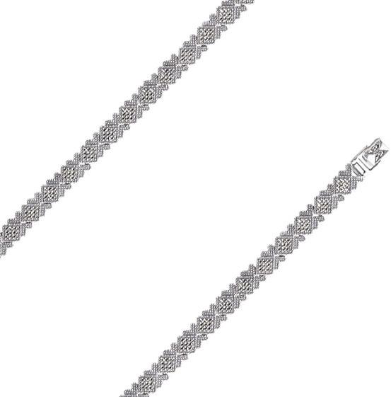 Браслет из серебра с марказитом р.19.5 Марказит BR265-mr
