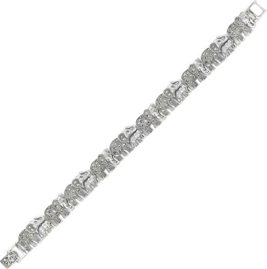 Браслет из серебра с марказитом р.18 Марказит BR694-mr