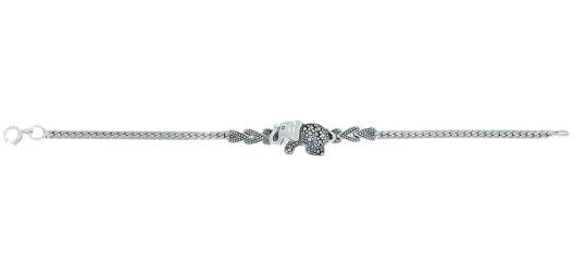 Браслет из серебра с марказитом р.18.5 Марказит BR758-mr