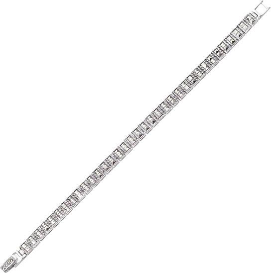 Браслет из серебра с марказитом р.19 Марказит BR366-mr