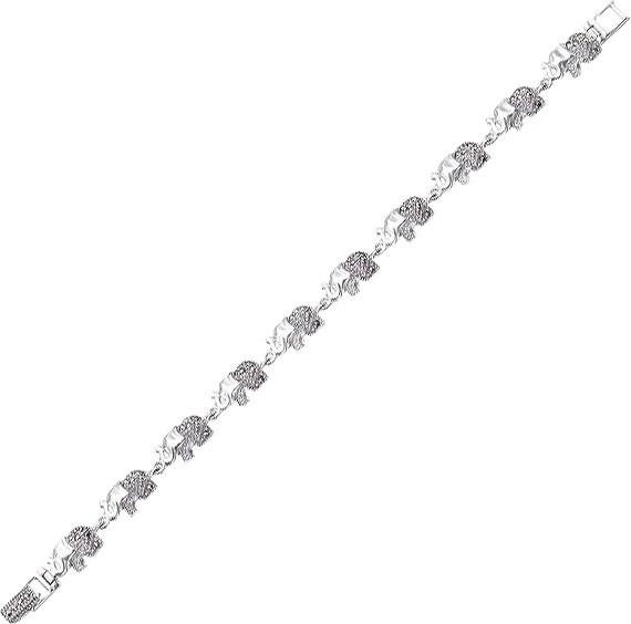 Браслет из серебра с марказитом р.17 Марказит BR232-mr