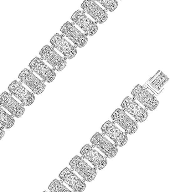Браслет из серебра с марказитом р.19 Марказит BR148-mr