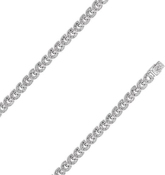 Браслет из серебра с марказитом р.19.5 Марказит BR275-mr