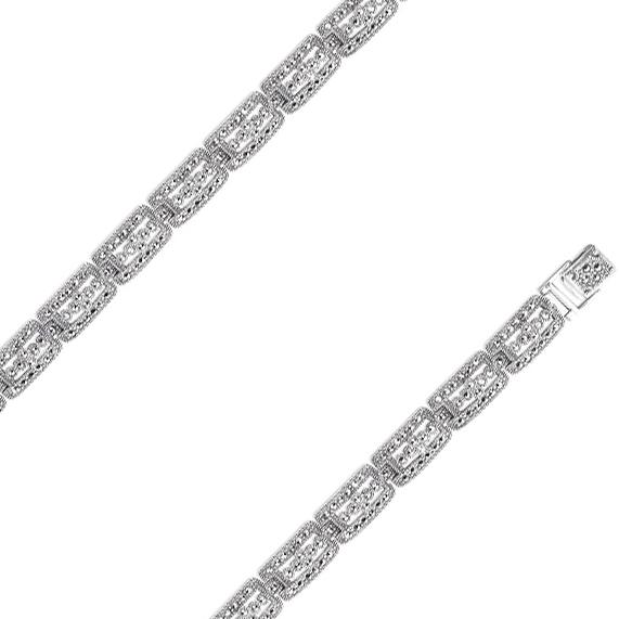 Браслет из серебра с марказитом р.19 Марказит BR420-mr