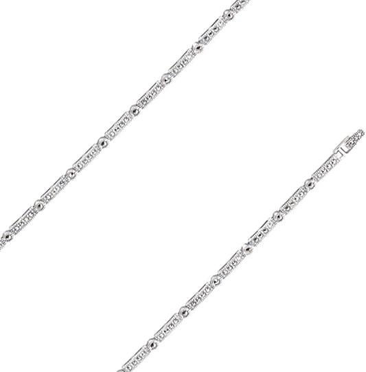 Браслет из серебра с марказитом р.17.5 Марказит BR357-mr
