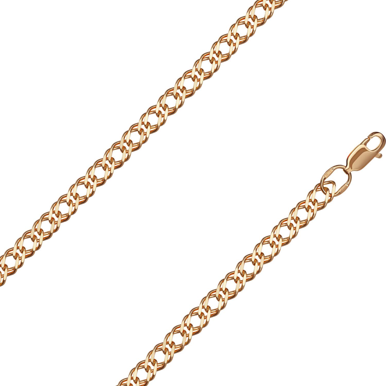 Браслет из красного золота р.20 Красцветмет NB-12-076-0-70