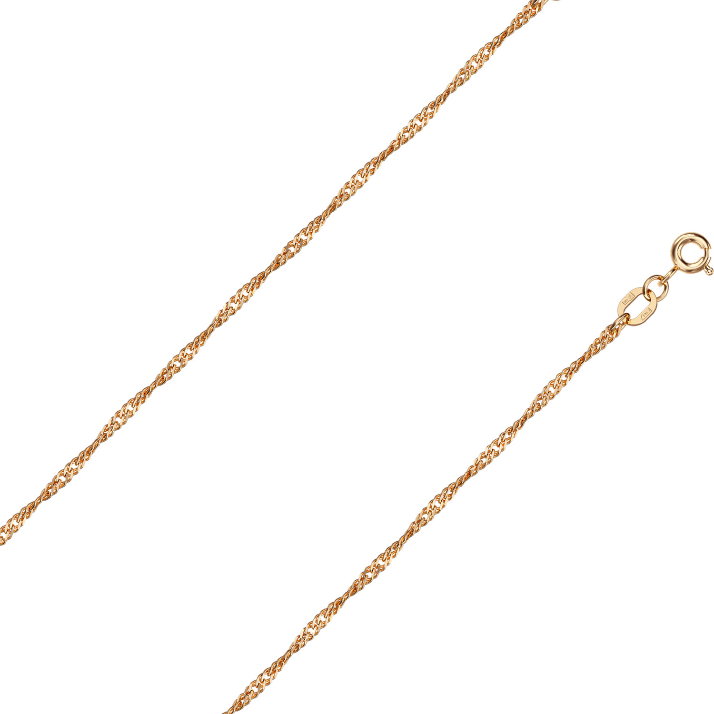 Браслет из красного золота р.17 Красцветмет NB-12-028-0-35