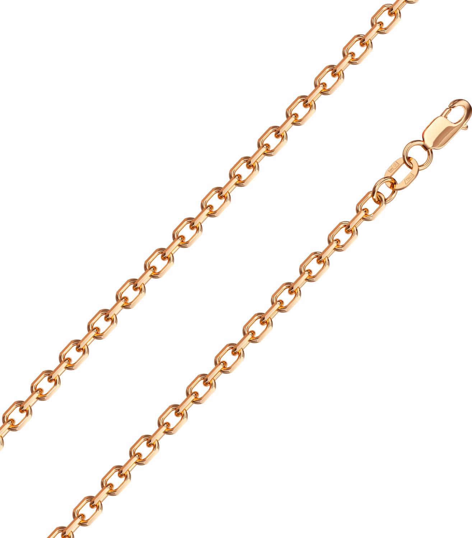 Браслет из красного золота р.19 Красцветмет NB-12-206-0-80