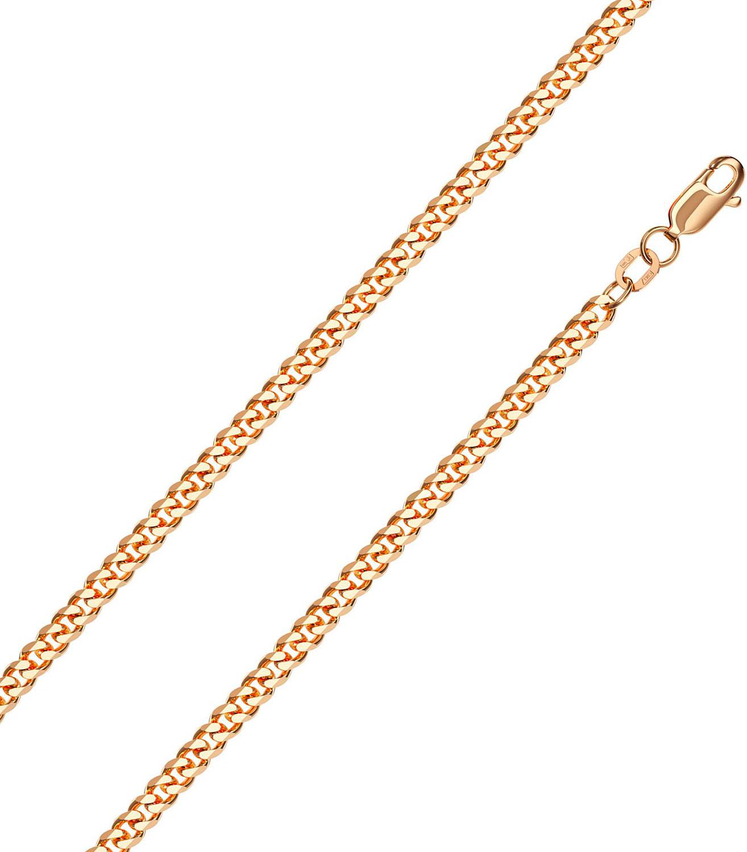 Браслет из красного золота р.21 Красцветмет NB-12-002-0-90