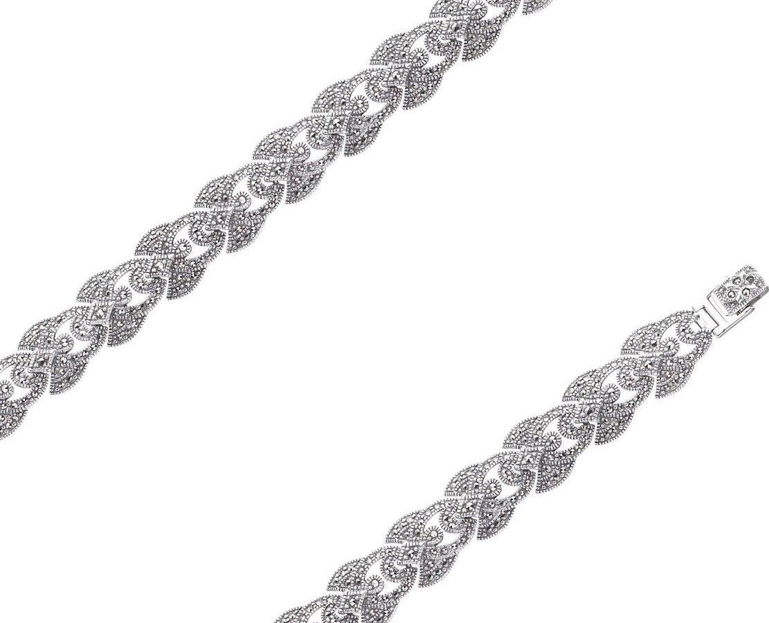 Браслет из серебра с марказитом р.18.5 Марказит BR422-mr