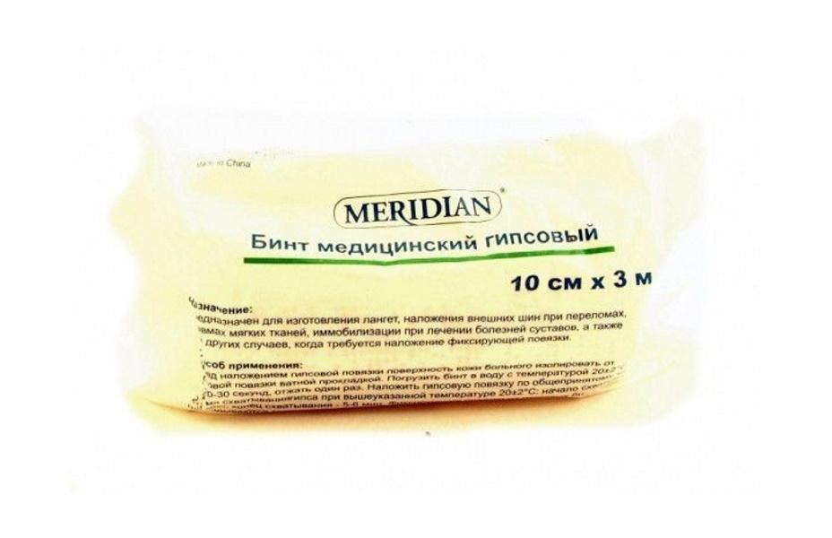 Купить Бинт гипс Меридиан 10смX300см, DGM Pharma Apparate Handel AG
