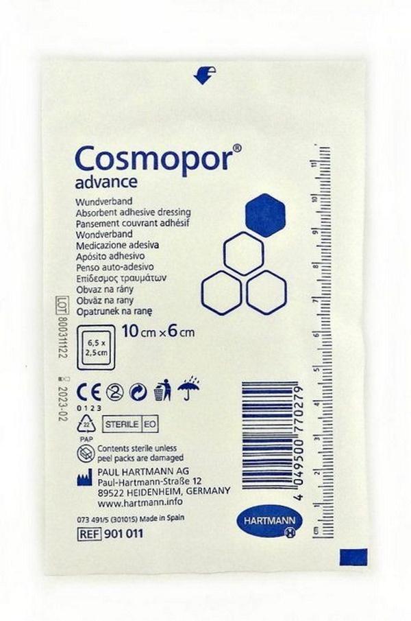 Купить Cosmopor Advance Космопор Эдванс самоклеящаяся повязка с технологией DryBarrier 10x6 см, HARTMANN