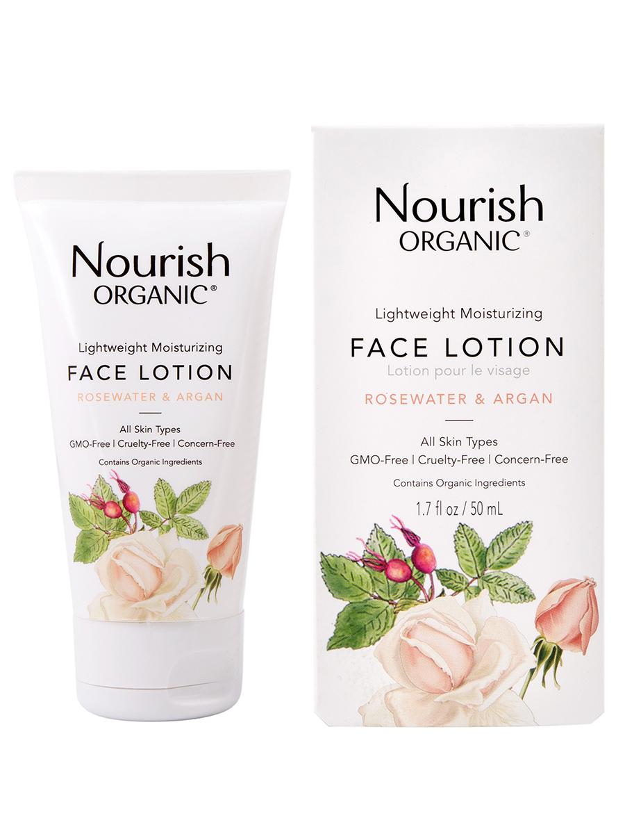 Лосьон для лица Nourish лёгкий увлажняющий «Розовая