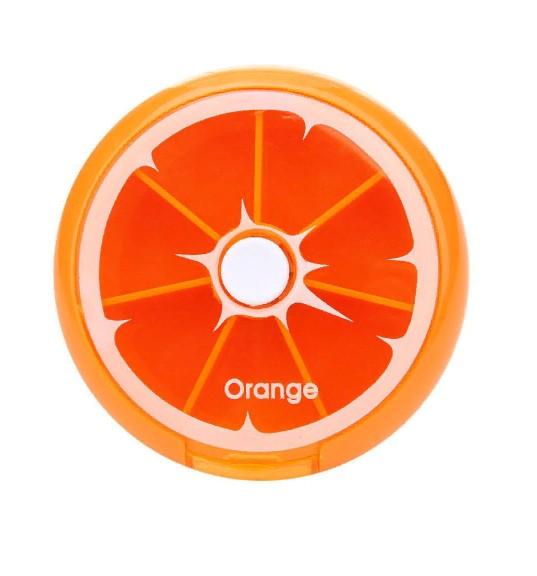 Автоматическая таблетница с 7 ю отделениями Апельсин