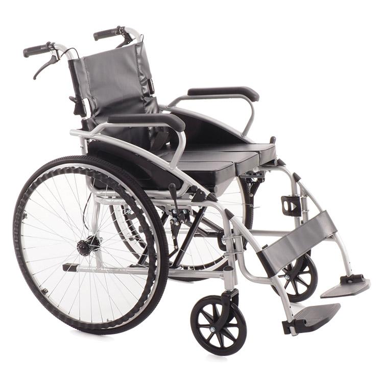 Кресло коляска с туалетом и тормозами