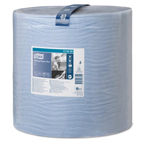 Купить Бумага протирочная TORK (Система W1), 1500 листов в рулоне, 34х36, 9 см, 2-слойная, 130050