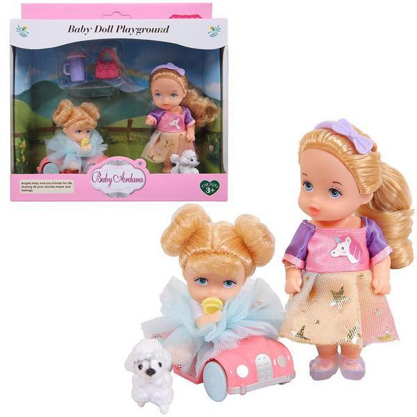 Купить Игровой набор Baby Ardana На прогулке (с машинкой) A602, JIANGSU HOLLY EVERLASTING INC.,