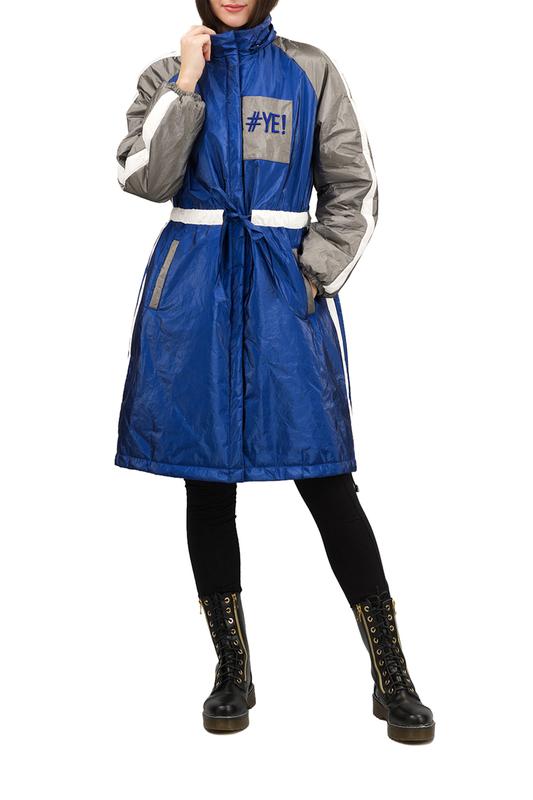 Утепленное пальто женское Pavel Yerokin SPBN-37 синее 44