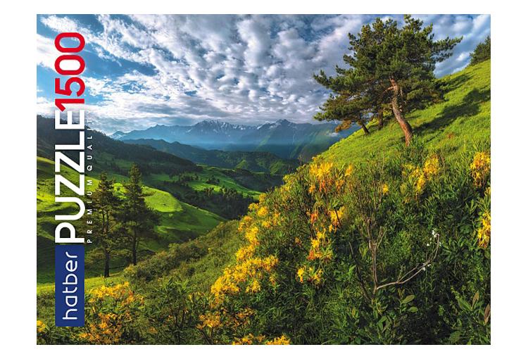 Купить Пазл Hatber Premium Горный пейзаж 1500 элементов, А1 1500ПЗ1-23047,