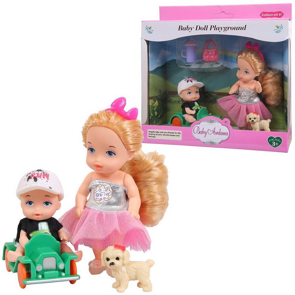 Купить Игровой набор Baby Ardana На прогулке (с братиком на машинке) A605, JIANGSU HOLLY EVERLASTING INC.,