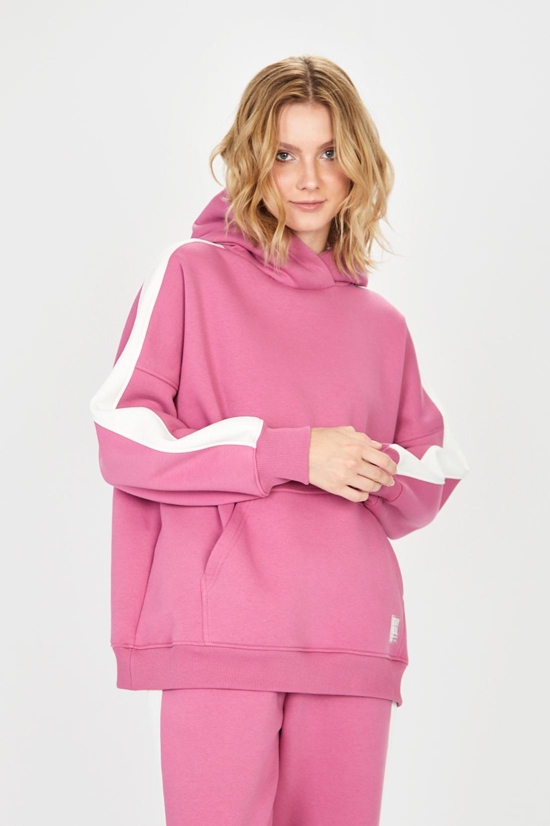 Худи женское Baon B111504 розовое XL
