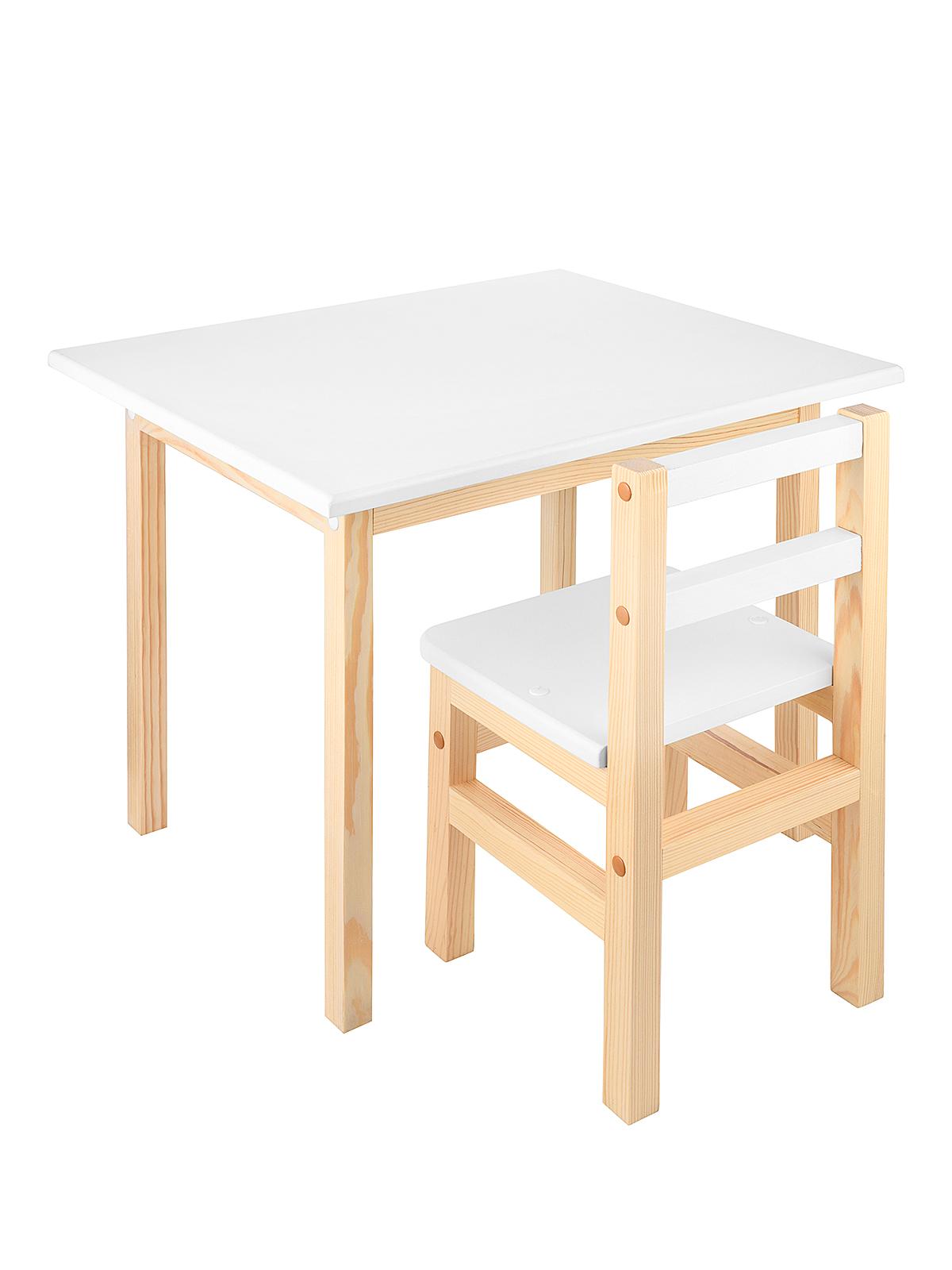 Комплект KETT-UP детский  стол+стул ECO ОДУВАНЧИК 50*60см, натур/белый KU076.4