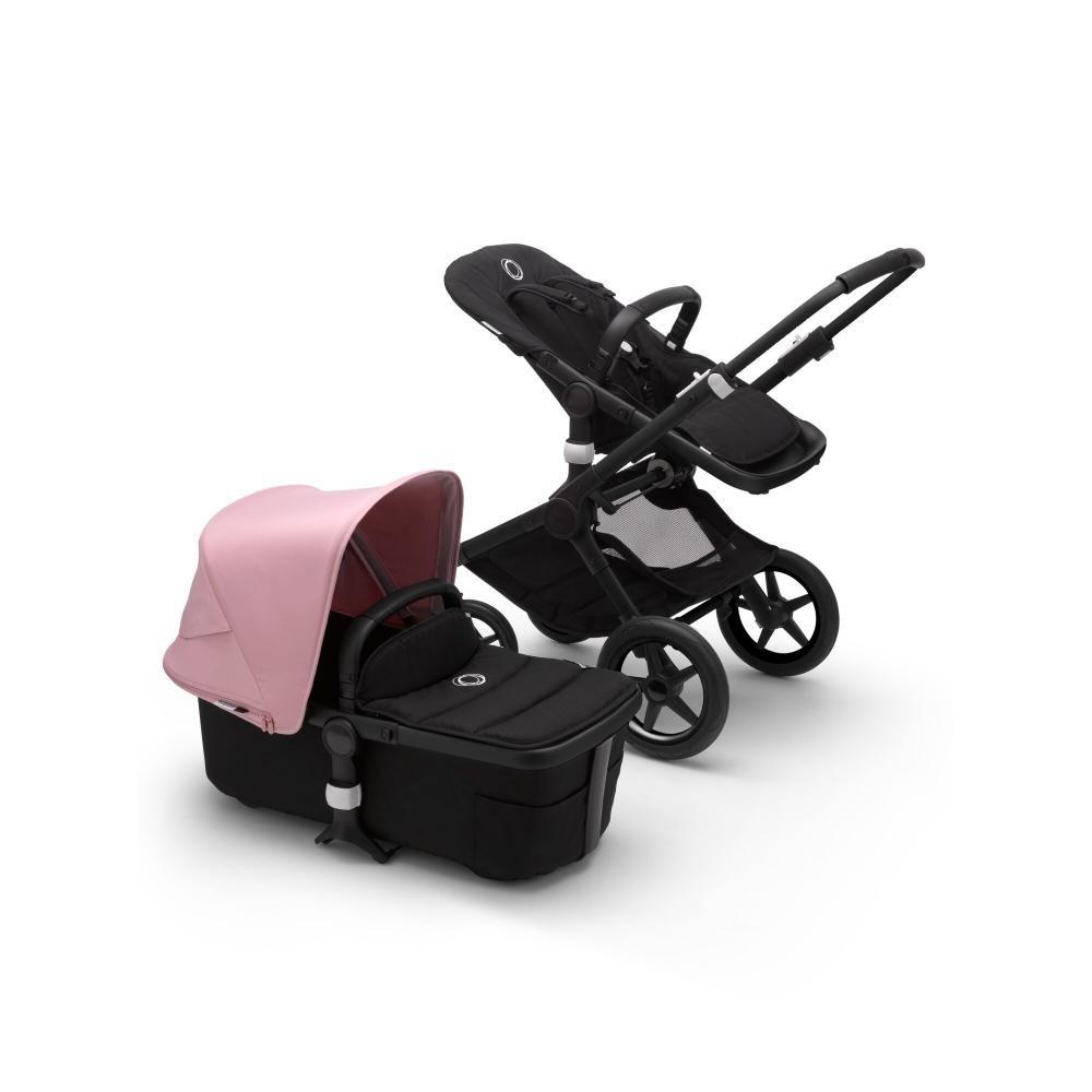 Купить Fox2 2 В 1, Bugaboo fox2 коляска 2 в 1 black/ black/ soft pink,