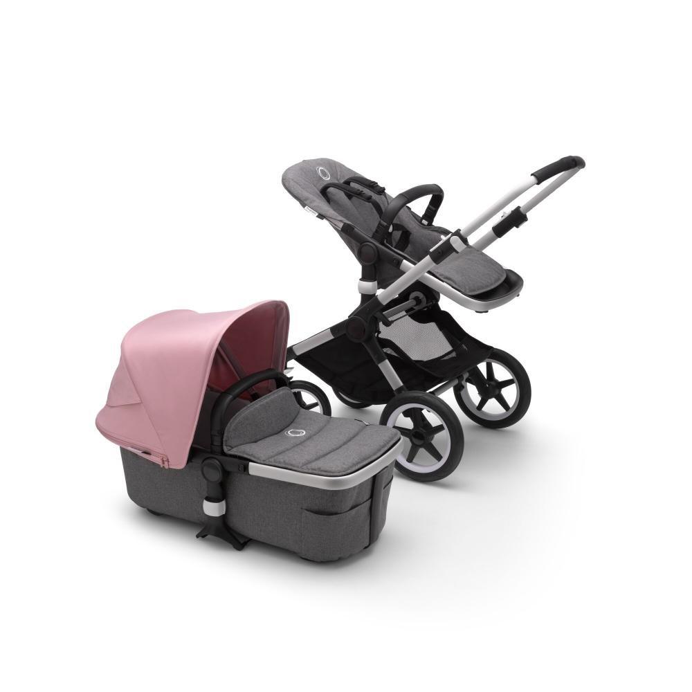 Купить Fox2 2 В 1, Bugaboo fox2 коляска 2 в 1 alu/ grey melange/ soft pink,