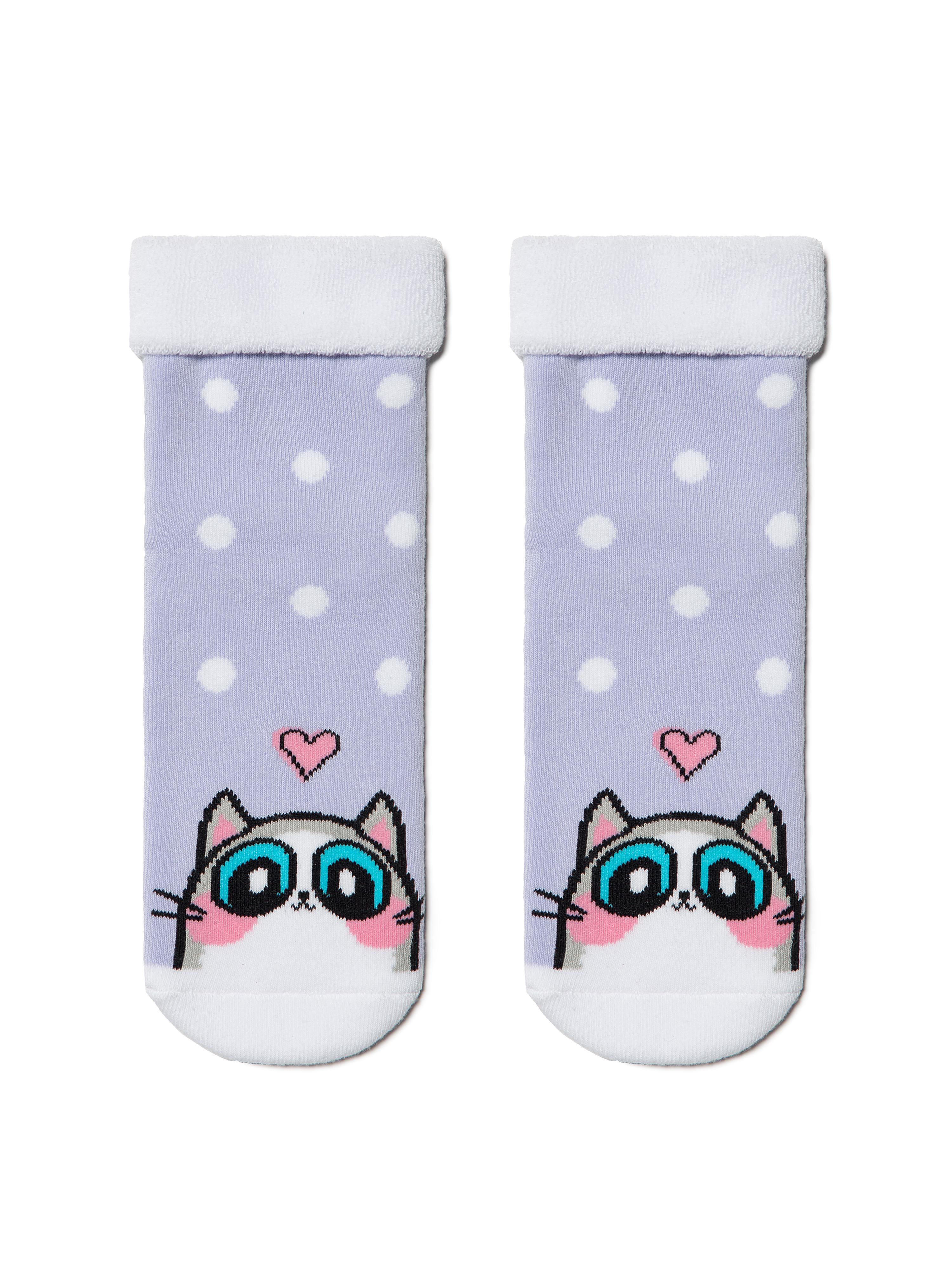 Купить Носки детские Conte Kids SOF-TIKI (с отворотом) 6С-19СП, р.22, 434 бледно-фиолетовый,