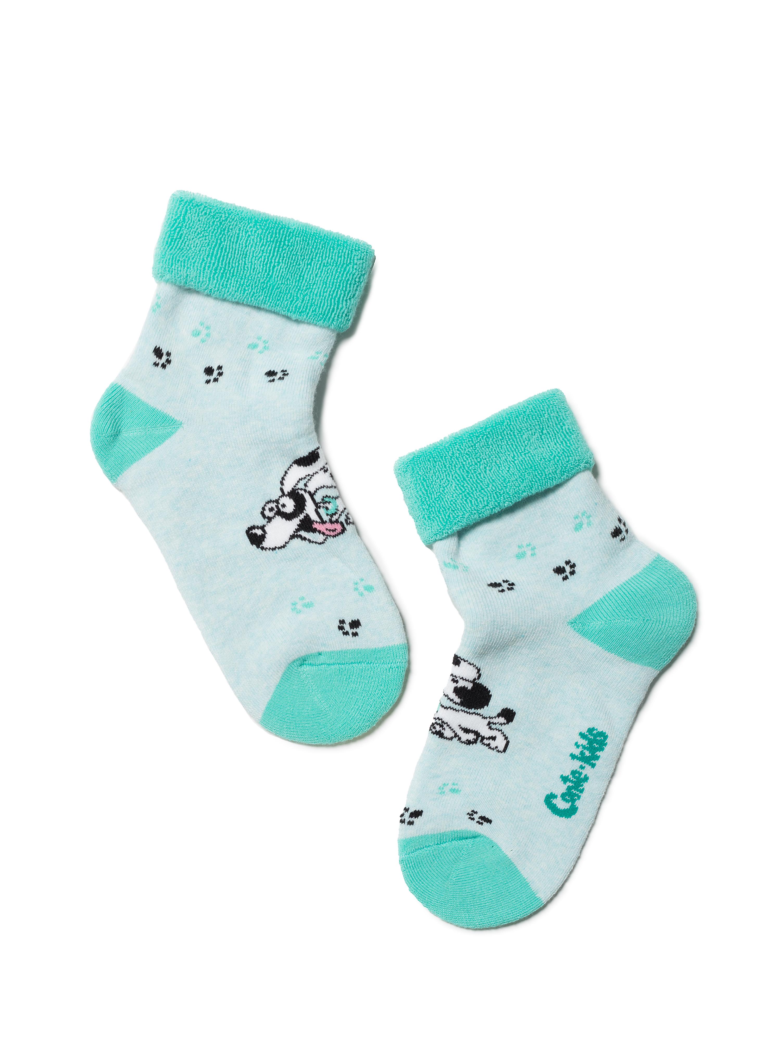 Носки детские Conte Kids SOF-TIKI (с отворотом) 6С-19СП, р.18, 223 бледно-бирюзовый,  - купить со скидкой