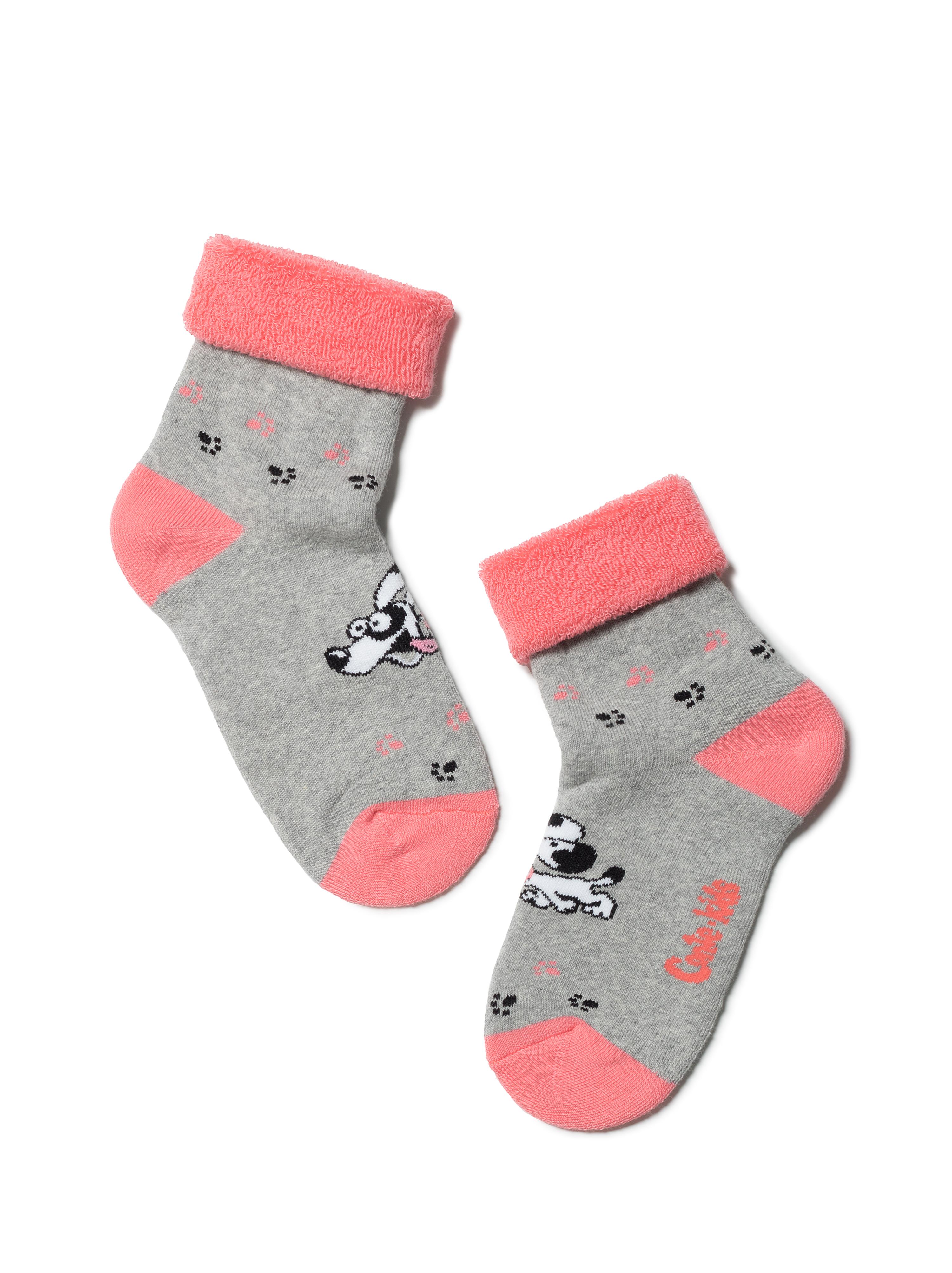 Купить Носки детские Conte Kids SOF-TIKI (с отворотом) 6С-19СП, р.18, 223 серый,