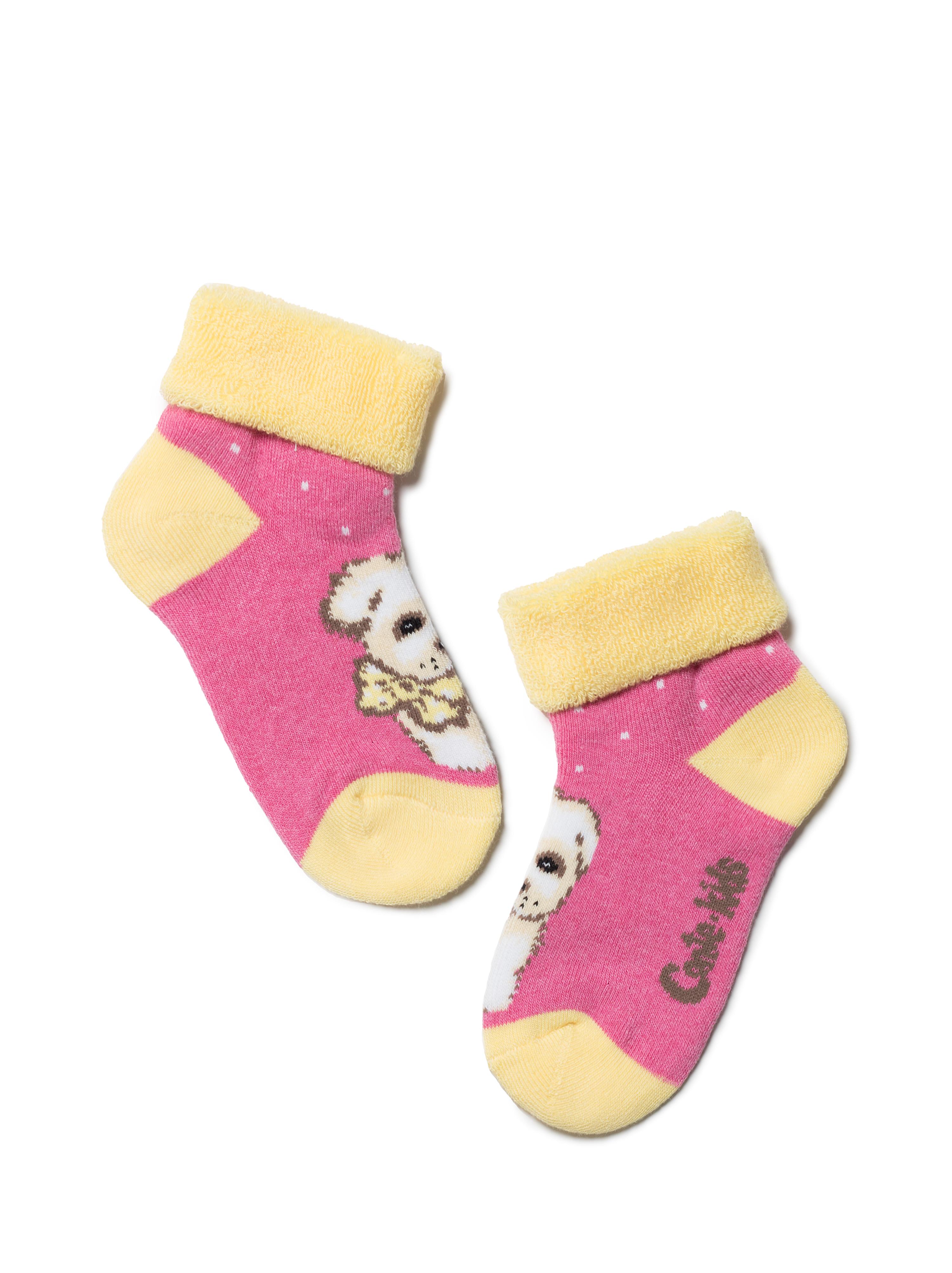 Купить Носки детские Conte Kids SOF-TIKI (с отворотом) 6С-19СП, р.14, 221 розовый,