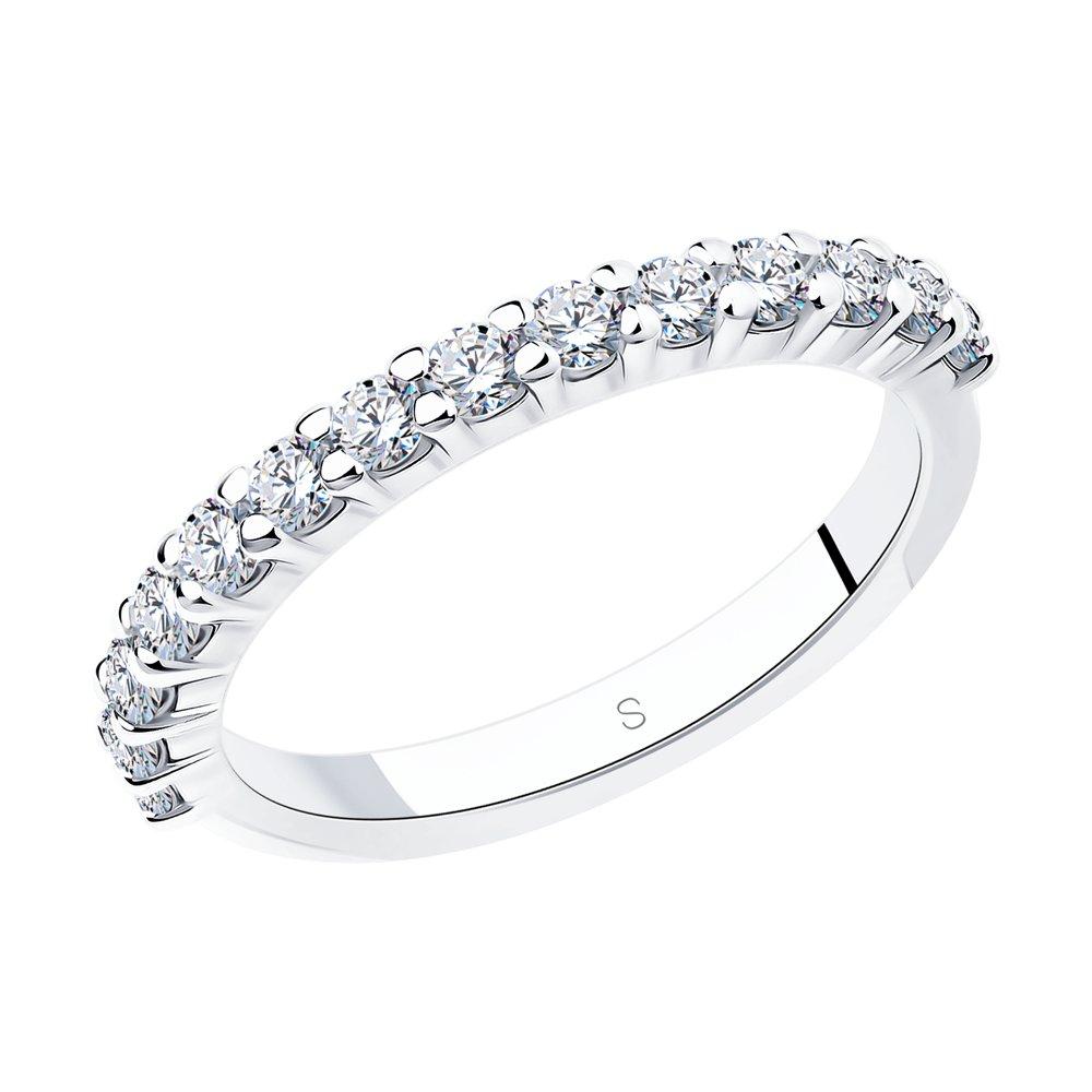 Кольцо женское SOKOLOV 94012183 из серебра, фианит р.16