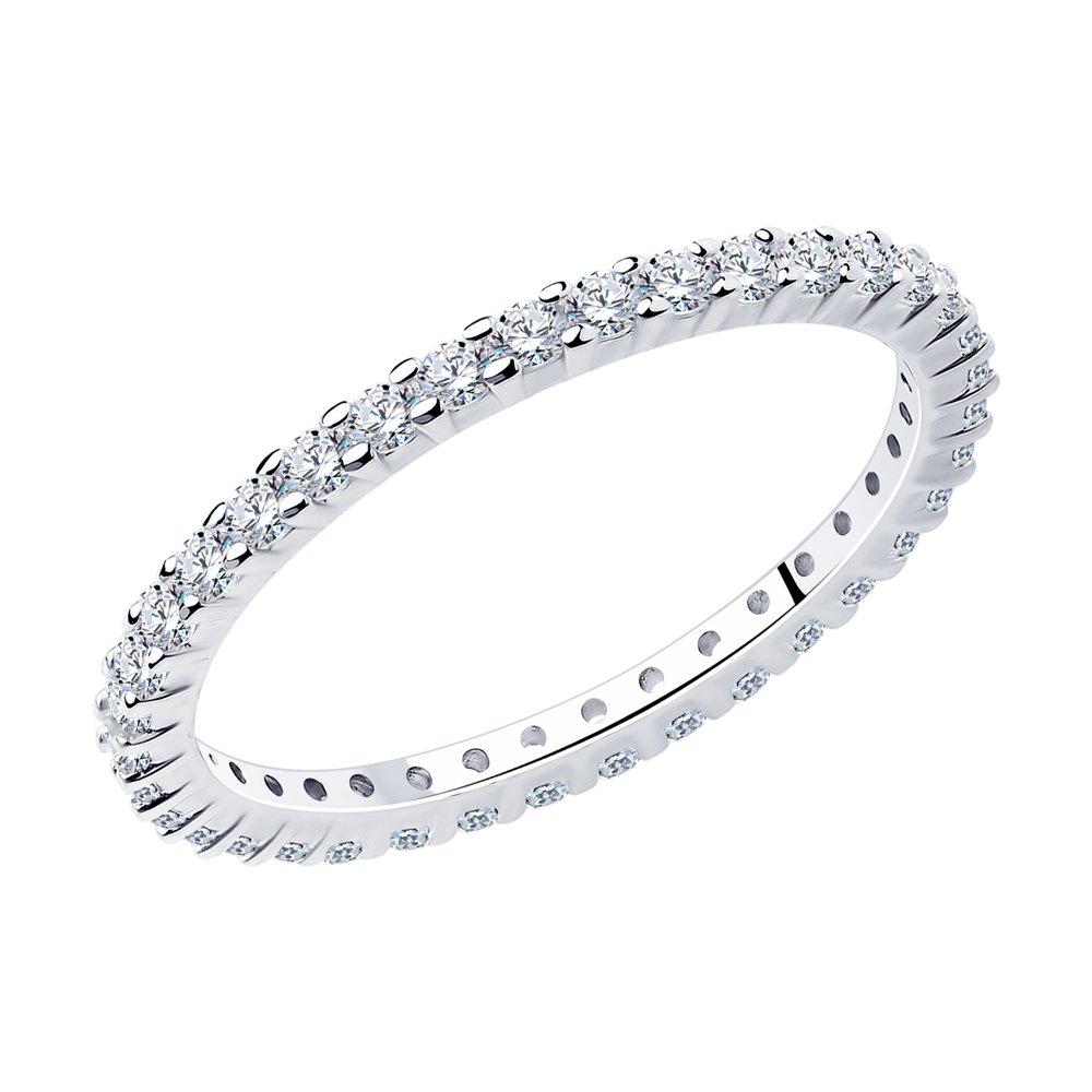 Кольцо женское SOKOLOV 94013276 из серебра, фианит р.18