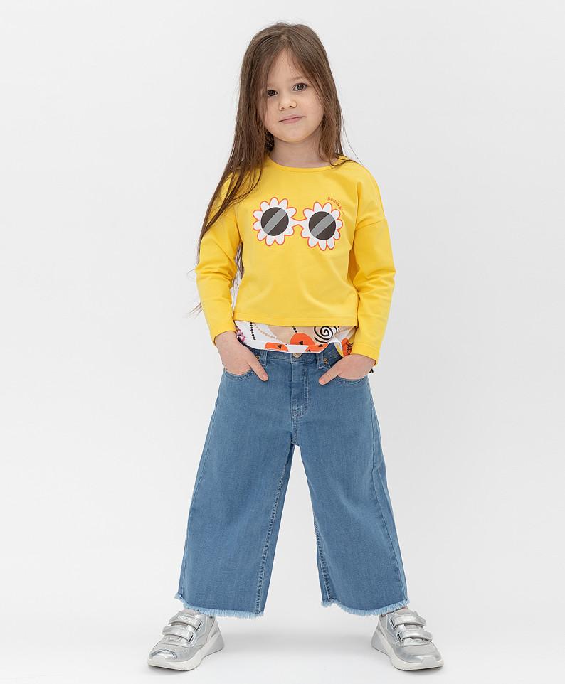 Купить 121BBGMC6308D200, Джинсы Button Blue для девочек цв. синий р-р. 128,