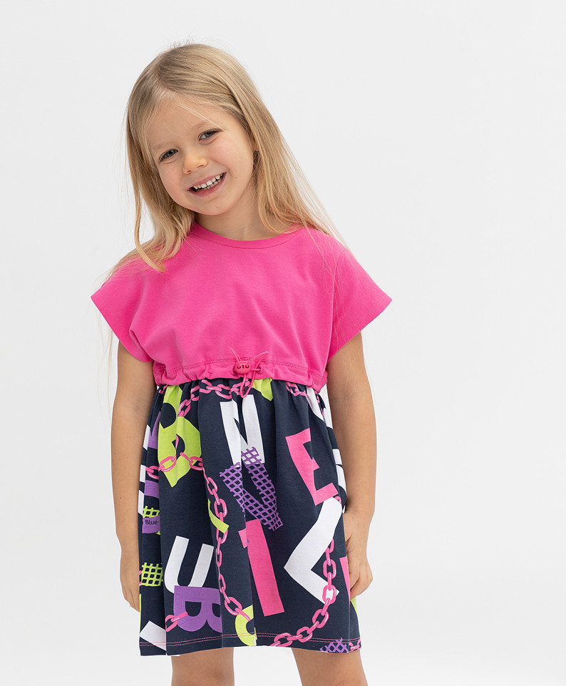 Купить 121BBGMC50051225, Платье Button Blue для девочек цв. синий р-р. 116,