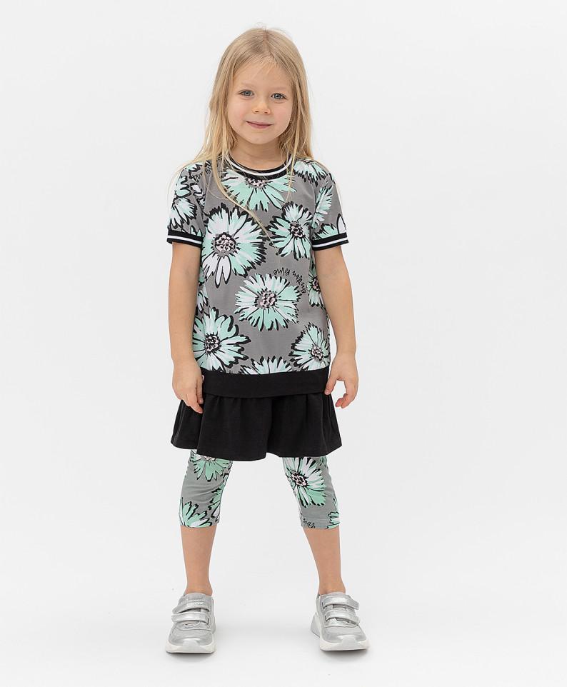 Купить 121BBGMC50012014, Платье Button Blue для девочек цв. серый р-р. 128,