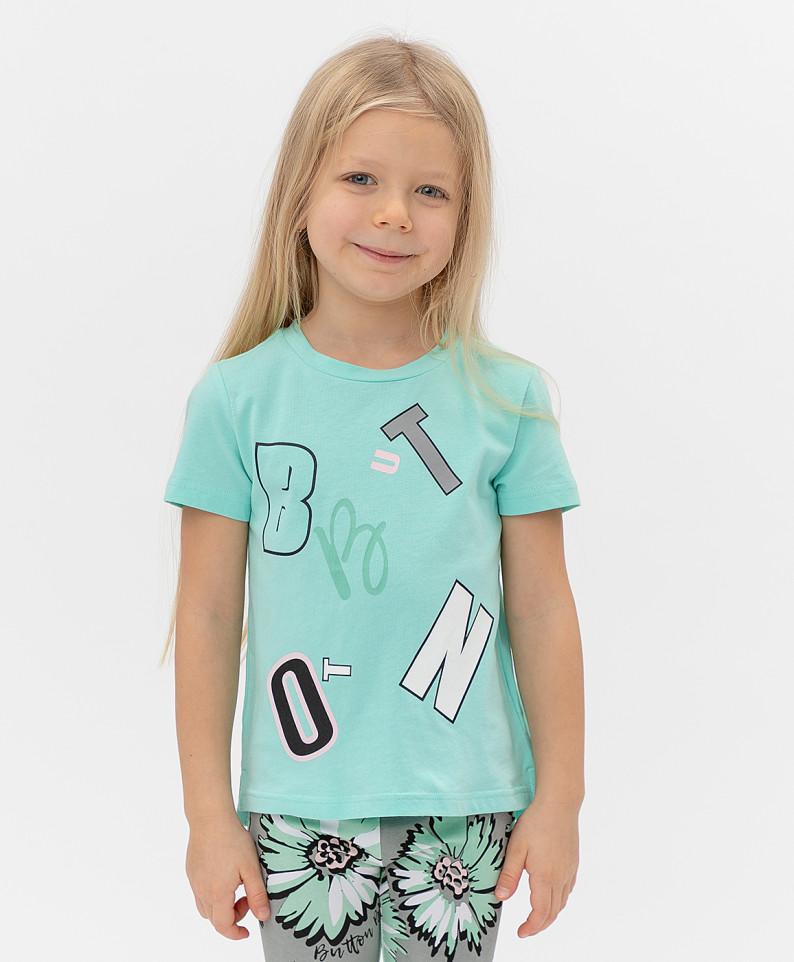 Купить 121BBGMC12022600, Футболка Button Blue для девочек цв. голубой р-р. 116,