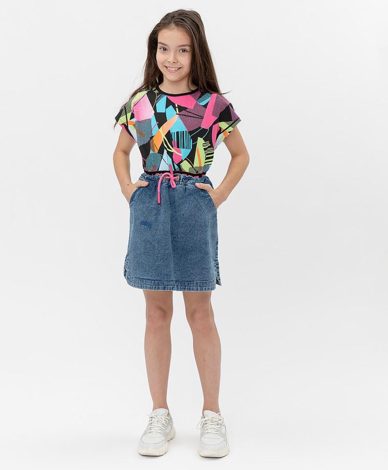 Купить 121BBGJC6101D200, Юбка Button Blue для девочек цв. синий р-р. 152,