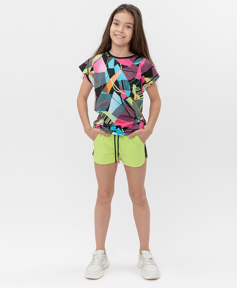 Купить 121BBGJC54015500, Шорты Button Blue для девочек цв. зеленый р-р. 152,
