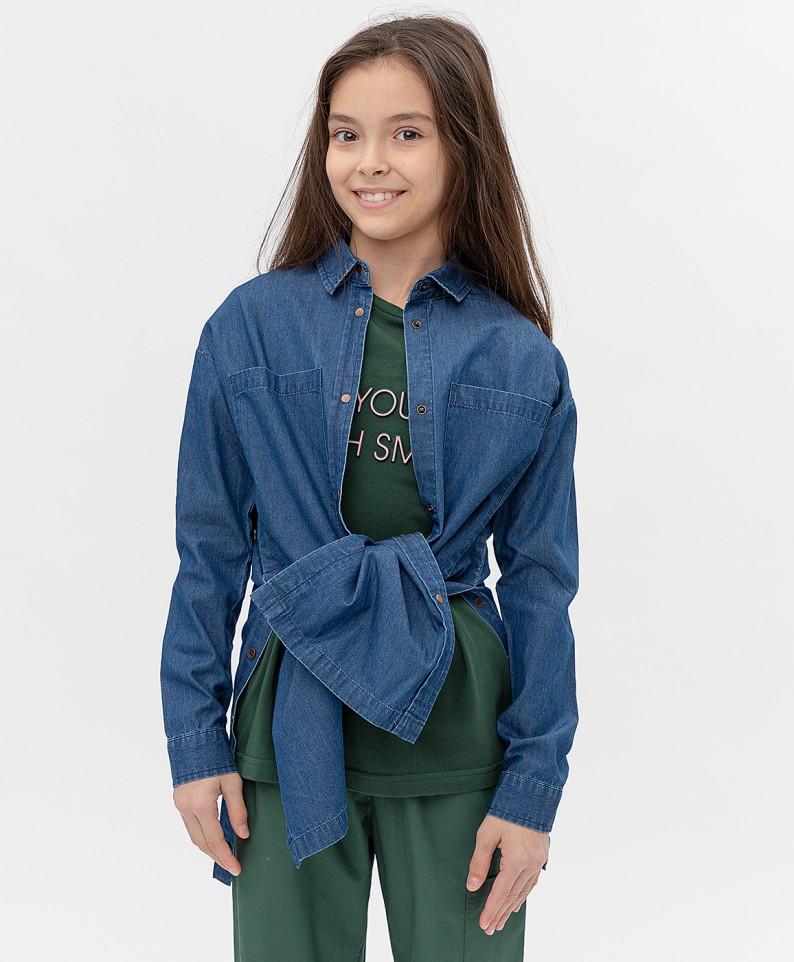 Купить 121BBGJC2504D100, Платье Button Blue для девочек цв. синий р-р. 140,