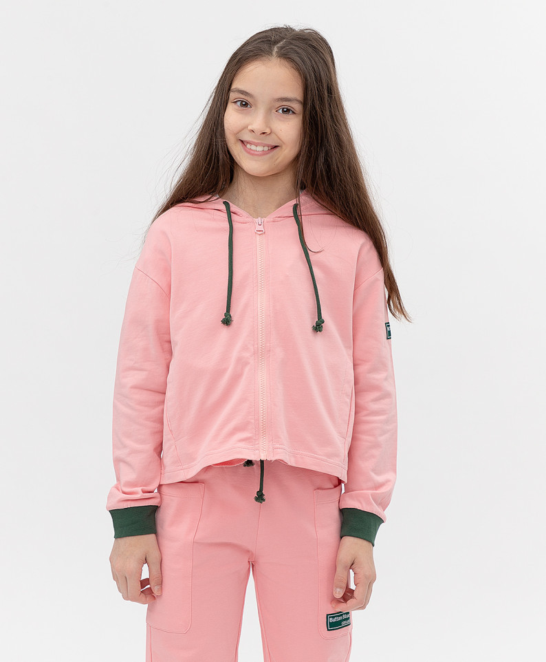Купить 121BBGJC16051200, Толстовка Button Blue для девочек цв. розовый р-р. 140,