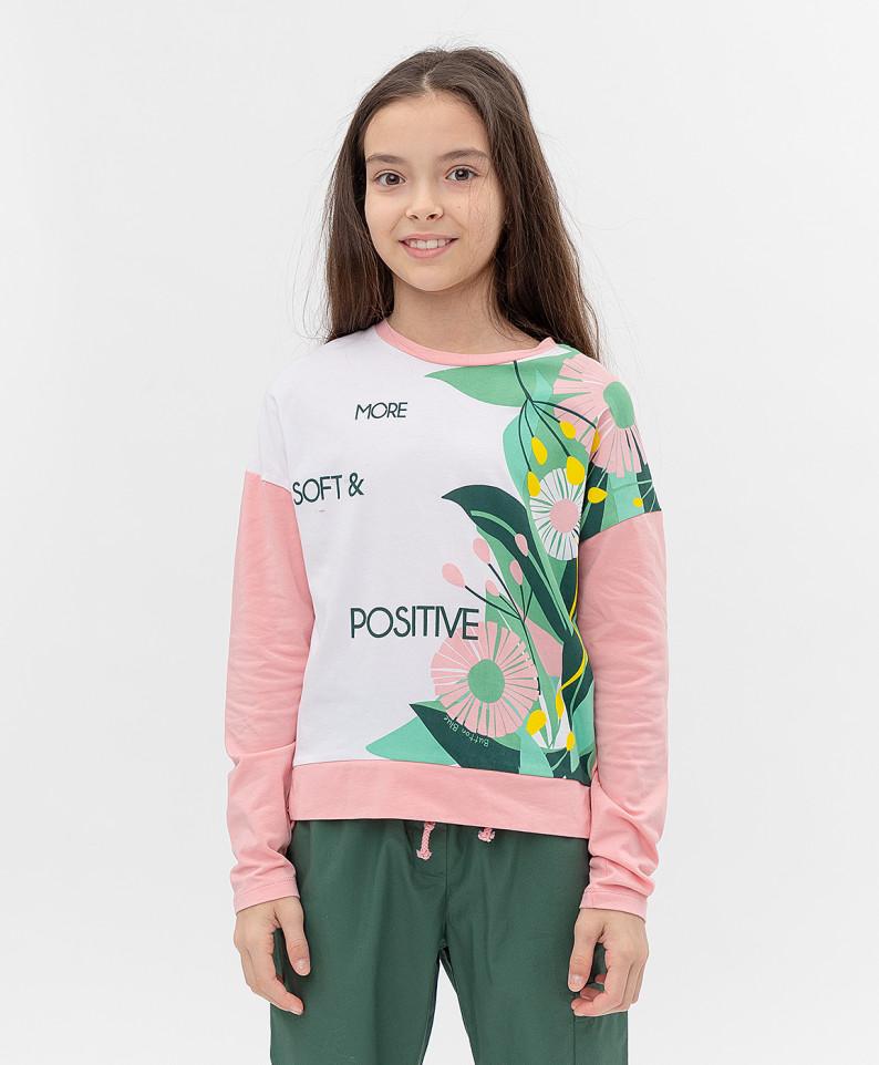 Купить 121BBGJC12061200, Футболка Button Blue для девочек цв. розовый р-р. 134,
