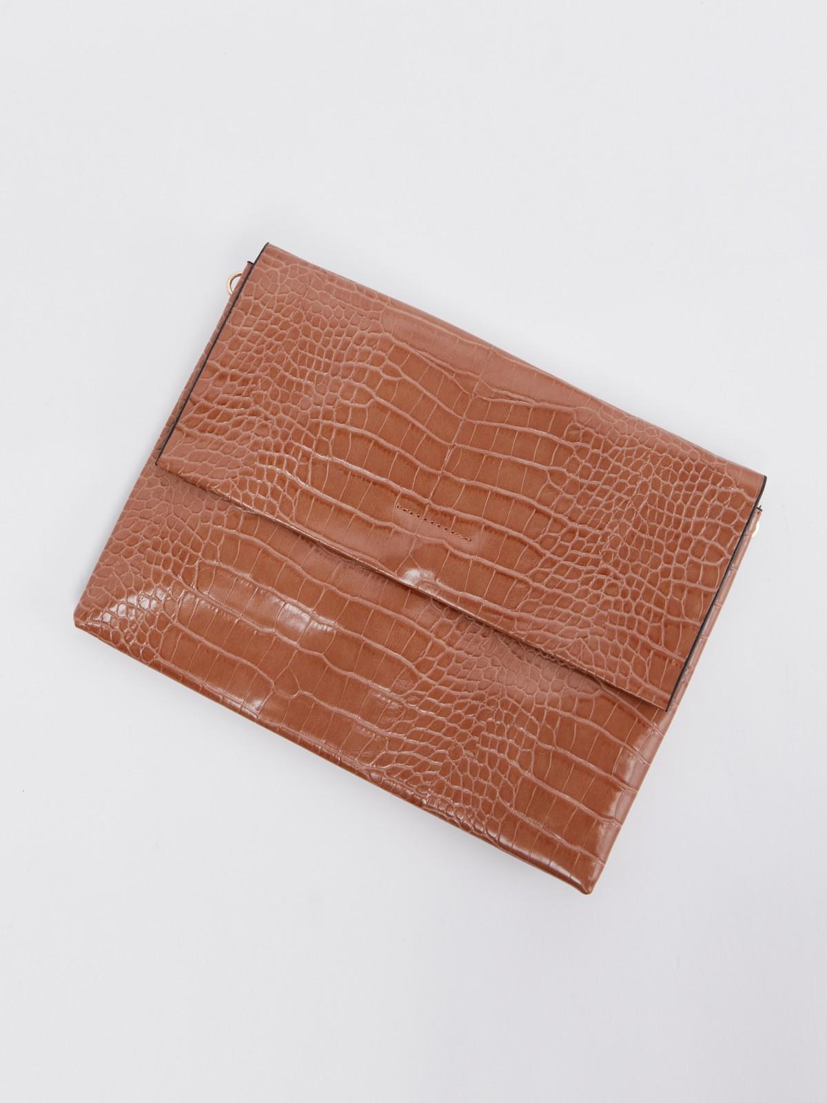 Клатч женский Zolla 320319459725 светло-коричневый