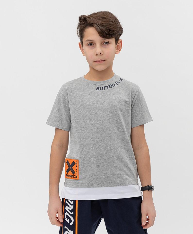 Футболка Button Blue для мальчиков цв. серый