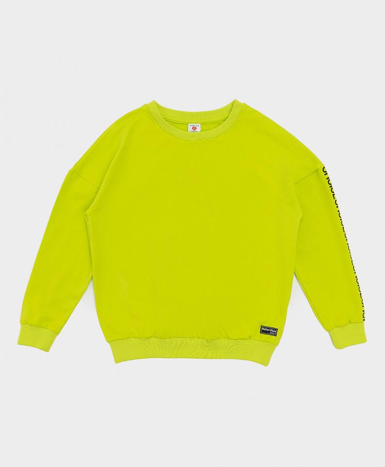 Купить 121BBBB16015500, Толстовка Button Blue для мальчиков цв. зеленый р-р. 134,