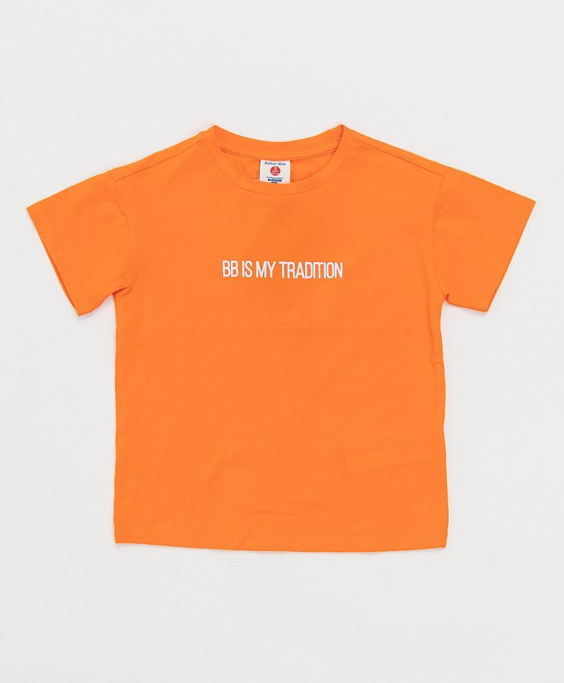 Купить 121BBBB12013200, Футболка Button Blue для мальчиков цв. оранжевый р-р. 116,