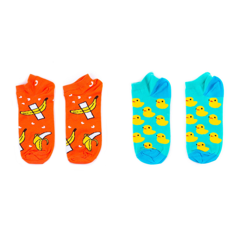 Набор носков St.Friday Socks Бананы и Утки разноцветный 38-41